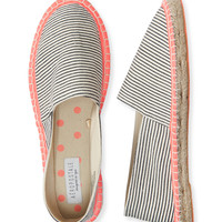 Striped Espadrille Slip-On Shoe