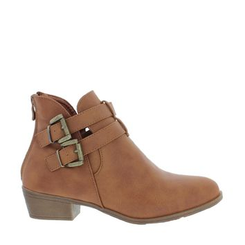 2 Buckle Ankle Bootie (TAN)