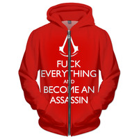 Red Assassins Creed hoodie