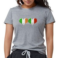 Irish and Italian Heart Flags T-Shirt on CafePress.com