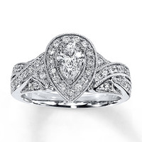 Diamond Engagement Ring 1 ct tw Pear-shape 14K White Gold