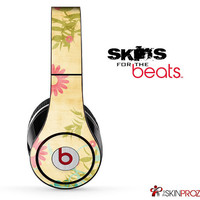 Vintage Orange Floral Scattered Skin For The Beats by Dre Studio, Solo, Pro, Mix-R or Wireless