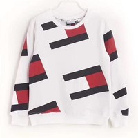 One-nice™ '' Tommy Jeans '' 90s Crew Sweatshirt Flag Print M8 Retro sweater