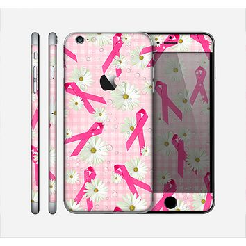 The Pink Ribbon Collage Breast Cancer Awareness Skin for the Apple iPhone 6 Plus