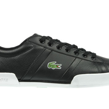 Lacoste Deston Leather Trainers - Black