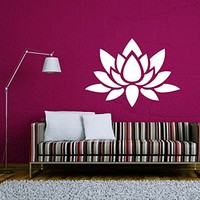Lotus Wall Decal Vinyl Sticker Decals Mandala Flower Yoga Namaste Indian Ornament Moroccan Pattern Om Home Decor Bedroom Art Design Interior NS2