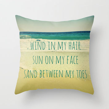Wind In My Hair II Throw Pillow by Shawn Terry King | Society6
