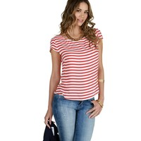 Spy Me Red Striped Top