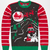 Ugly Christmas Sweater Santa's Coming Mens Light Up Sweater Black  In Sizes