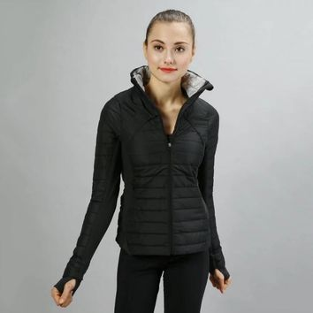 Lululemon Women Fashion Down Cardigan Jacket Coat