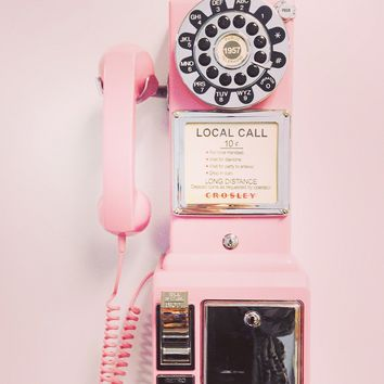 Crosley 1950's Retro Payphone - CR56 - Comes in Black, Pink, Red and Brushed Chrome
