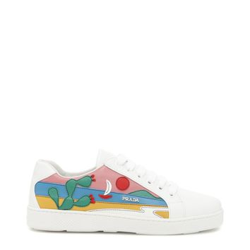 Best price on the market: Prada Leather Sneakers With Mexico Patch