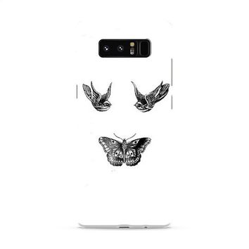 Birds And Butterfly Tattoos Samsung Galaxy Note 8 Case