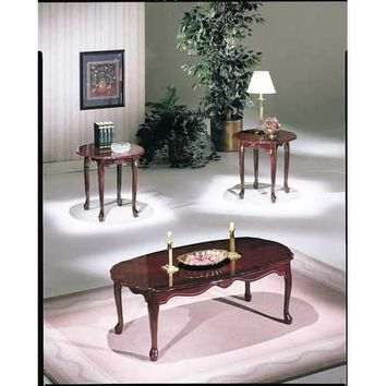 Essex 3Pc Pack Coffee/End Table Set , Cherry