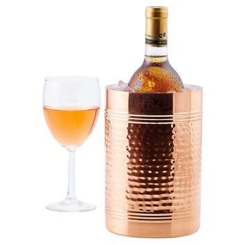 Hammered Wine & Champagne Copper Chiller, Ice Buckets