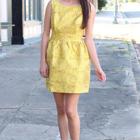 Golden Girl Shimmer Dress {Mustard}