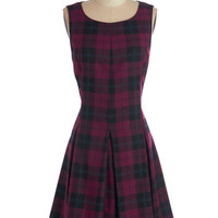 ModCloth Mid-length Sleeveless A-line Plaid Case of Loving You Dress