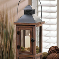 Mount Vernon Wooden Candle Lanterns W/ Drawer - 2 Sizes