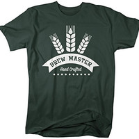 Shirts By Sarah Men's Brew Master Hand Crafted T-Shirt Beer Brew Shirts