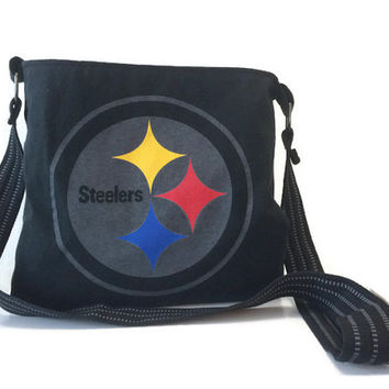 Pittsburg Steelers Bag Upcycled Crossbody Bag