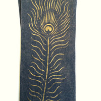40% Off Peacock Feather Yoga Pants Large, Hand Painted- Choose your design: Peacock, Tree of Life, Om, Henna, Lotus