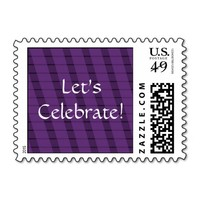 Purple Stripes on More Purple - Let's Celebrate! Stamps