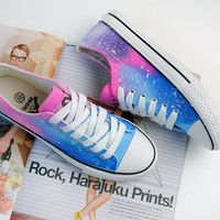 Tie-Dye Gradient Harajuku Star Canvas Shoes JCAH