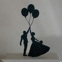 Wedding Cake Topper - Balloon Wedding