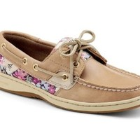 Women's Sperry, Bluefish 2 eye Boat Casual LINEN / PINK FLORAL 8.5 M
