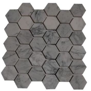 Splashback Tile Hexagon White Carrera 12 in. x 12 in. x 8 mm Floor and Wall Tile (1 sq. ft.)-HEXAGON WHITE CARRERA at The Home Depot