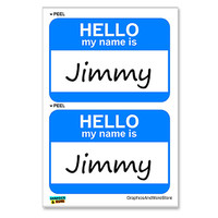 Jimmy Hello My Name Is - Sheet of 2 Stickers
