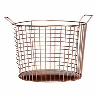 Large metal wire basket - Copper - Home All | H&M GB