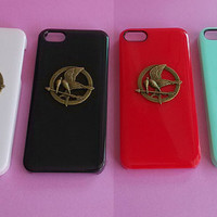 Hunger Game --  iphone 4 case ,stud iphone 4 / 4S case in black or white or green or red