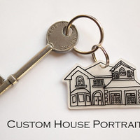 Handmade Custom Portrait Keyring featured on TODAY by Morticias