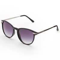 Fantas-Eyes Etched Temple Round Sunglasses