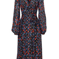 Cynthia Rowley Folk Floral Wrap Dress