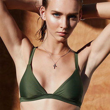LA Hearts LUXE Seamless Fixed Triangle Bikini Top at PacSun.com