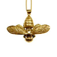 Gold Bee Pendant