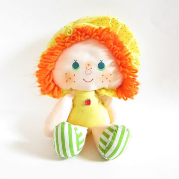 Apple Dumplin Rag Doll Vintage Strawberry Shortcake Cloth Fabric Toy