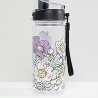 Monki floral water bottle in transparent at asos.com