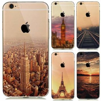 Landscape New York | Eiffel Tower Paris iPhone Case – For iPhone 7 /8 /Plus /6(s) /5s SE