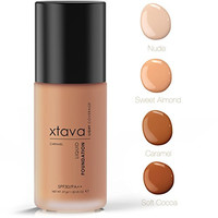 xtava Sheer Matte Liquid Foundation with SPF 30 - Natural, Luminous, Professional Quality Formula with Buildable Coverage - Cruelty Free Makeup - Crafted in Korea (Caramel)