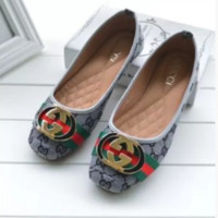 Gucci Fashion Women Comfort flat shoes Grey