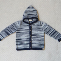 Baby Alpaca Wool Marled Hooded Jacket