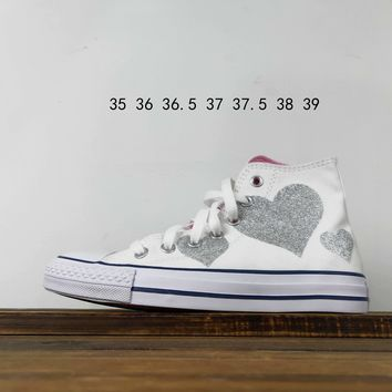 Kuyou Fa19630 Converse Chuck Taylor All Star Big Denim Love High Top Canvas Shoes