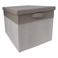 Lidded Large Milk Crate - Gray Chevron - Threshold™