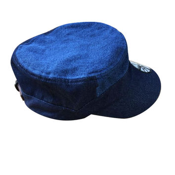 Kangol Cadet Blue Jeans Jah Army Military Army Cadet Cap Hat 100% Cotton ARMY
