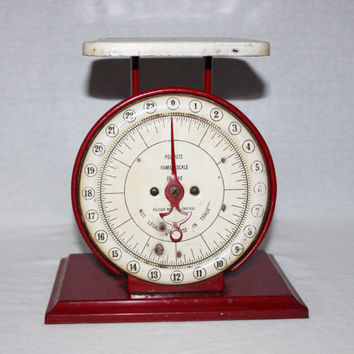 Vintage 1940s Pelouze Family Deluxe Scale, Kitchen Scale