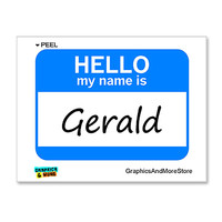 Gerald Hello My Name Is Sticker