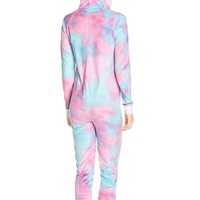 COZY ZOE 'Unicorn' Animal Ear Hooded Jumpsuit | Nordstrom
